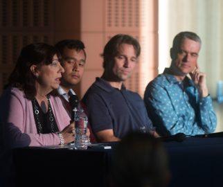 Panel members were, from left, Julie Evans, Kyle Lee, Jürgen Schulze and Rodney Guzman.