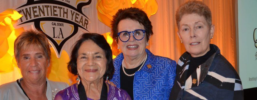 From left, Rosie Casals, Dolores Huerta, Billie Jean King, and Tam O'Shaughnessy.