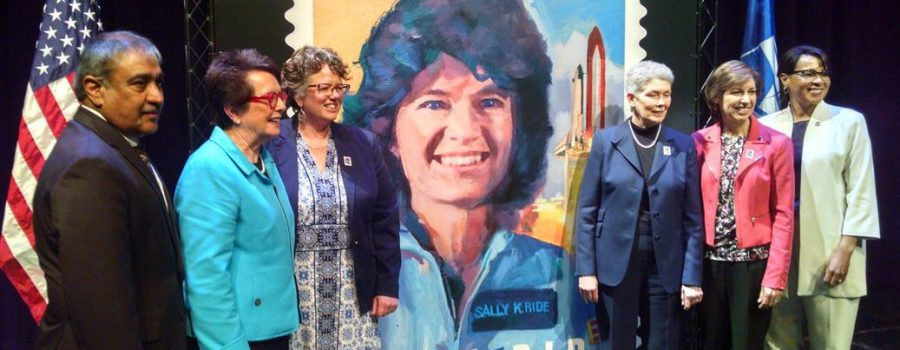 Sally Ride stamp dedication
