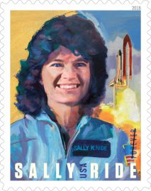 Sally Ride single stamp